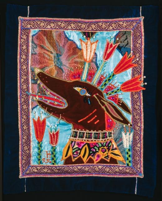 1995 Punainen koira laulaa (Red Dog Singing) 55 x 52