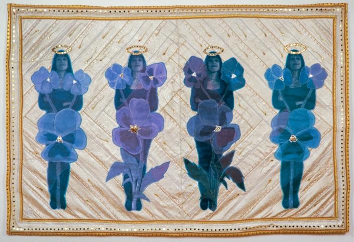 2000 Siniset orvokit (Blue Violets) 140 x 205